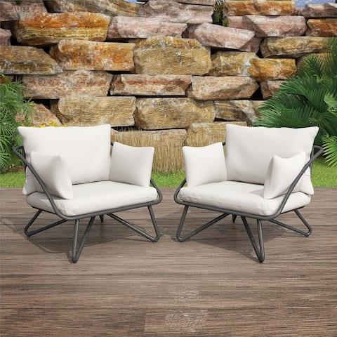 Novogratz Poolside Gossip Collection Teddi Outdoor Lounge Chairs (2-piece)