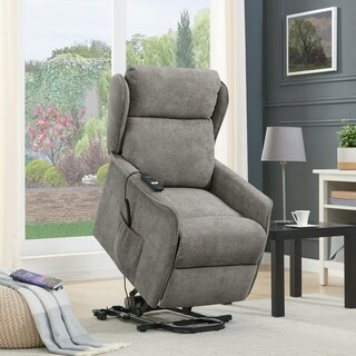 Link to Copper Grove Wels Chenille Classic Wingback Power Recline and Lift Chair Similar Items in Living Room Furniture