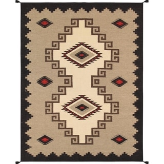 Pasargad Home Kilim Hand-Woven Wool Rug