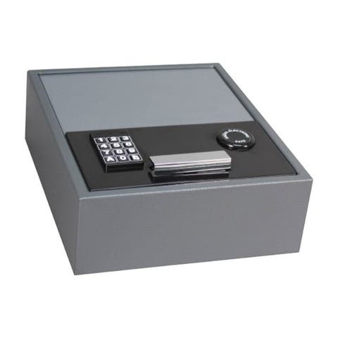 First Alert 0.35 cu. ft. Electronic Lock Gray Top-Opening Anti-Theft Drawer Safe
