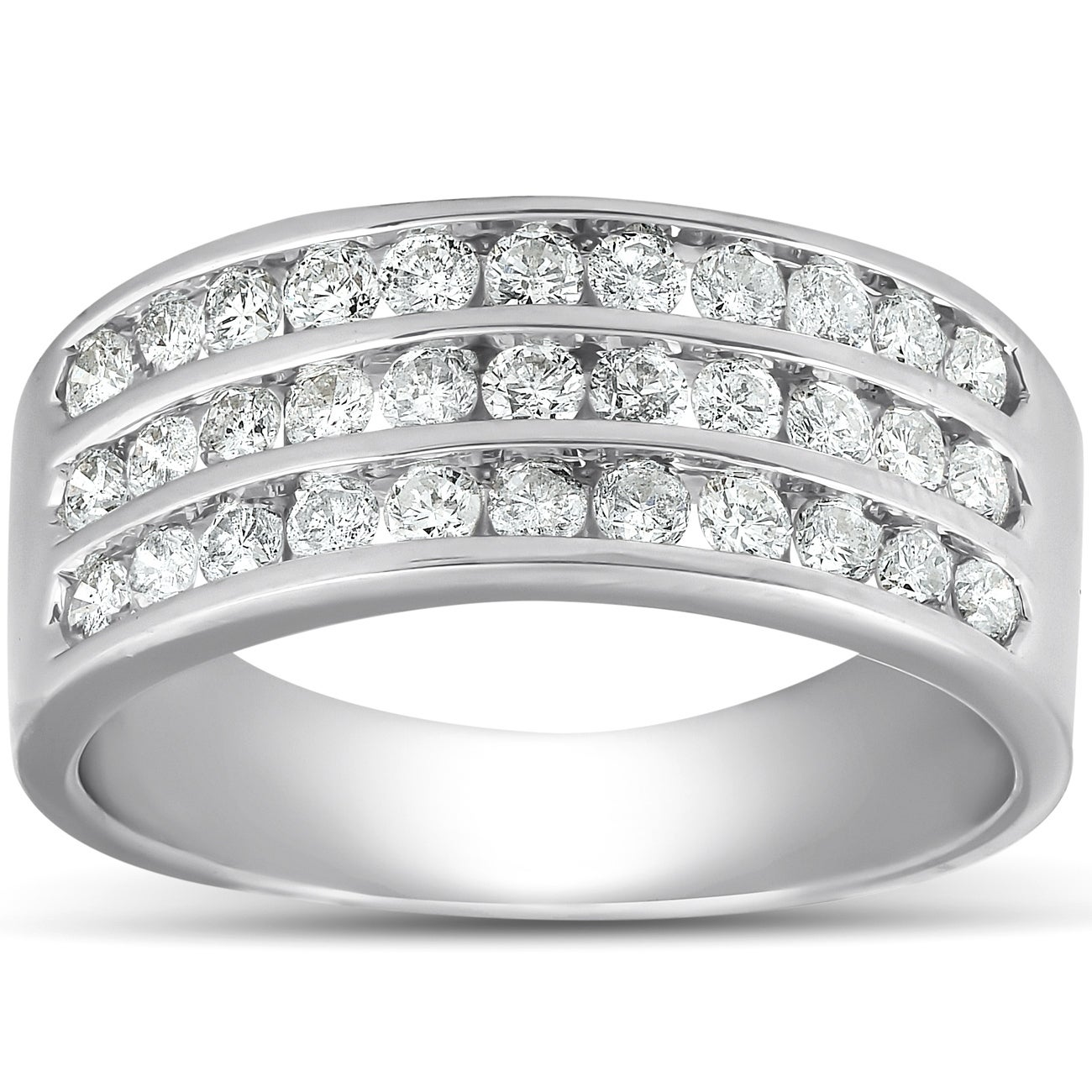 G-H,I2-I3 Size-4.25 1//10 cttw, 3 Diamond Wedding Band in 10K Yellow Gold