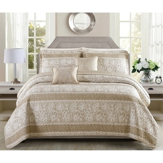 Link to Serenta Emma 5 Piece Printed Quilt Bedspread Coverlet Set Similar Items in Bedspreads