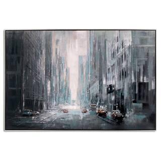 Misty City Framed Canvas