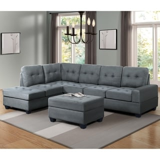 Microfiber Sectional Sofas Online At Our Best Living Room Furniture Deals