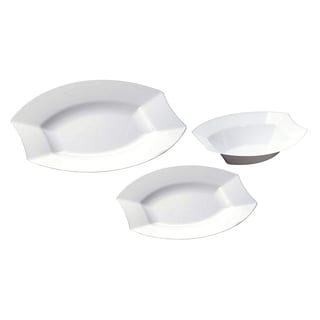 Table to Go 50-Piece Plastic Salad Plate Set