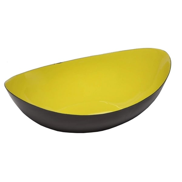 Melange Home Decor Modern Collection, 8-inch Boat Bowl, Color - Lime Green