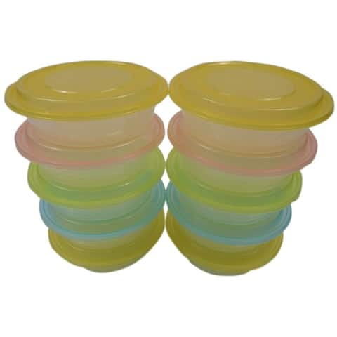 TTG 20-Pack Round Bento Lunch Boxes with Lids (24 oz), Microwaveable, Dishwasher & Freezer Safe Meal Prep Containers