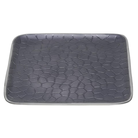 """Artisan d'Orient Classic 8"""" Square Tray, Color - Silver Grey, Set of 4"""
