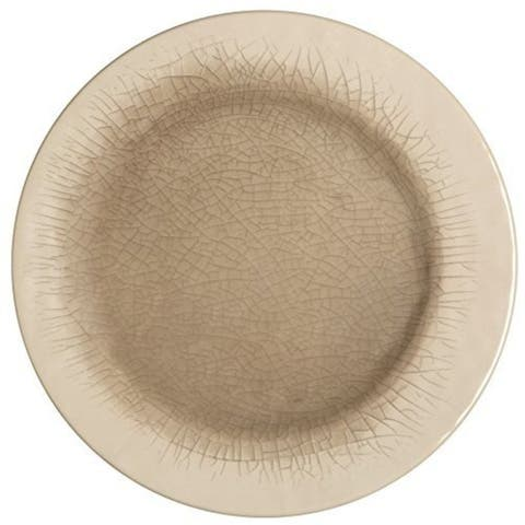 Melange 6-Piece 100% Melamine Dinner Plate Set (Crackle Collection)