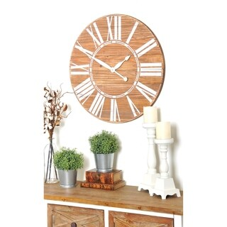 The Gray Barn Jartop Oversized Brown Farmhouse Wall Clock