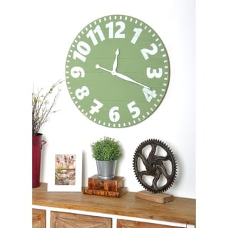 Oversized Sage Industrial Style Wall Clock