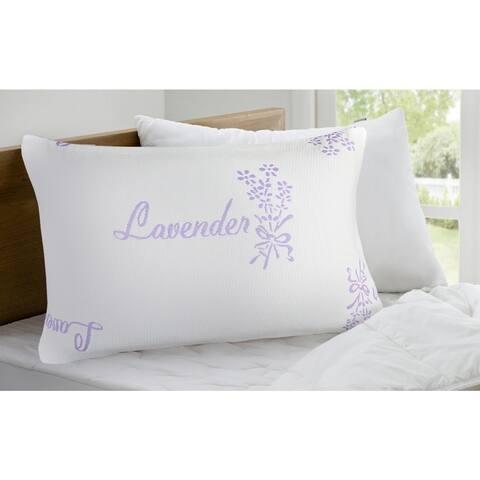 Canada Loft- Lavender Scent Knit Pillow - White/Lavender