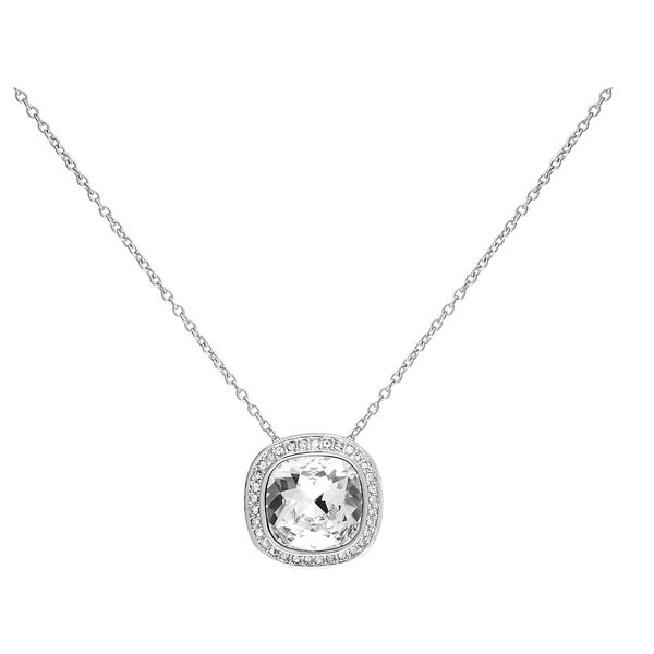 a0d6ff08175d20 Shop Swarovski Women s Rhodium-Plated Crytal Necklace - 5005808 - Free  Shipping Today - Overstock - 27334599