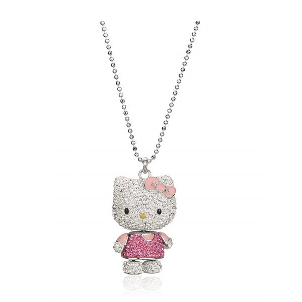 b83e965e9 Shop Swarovski Hello Kitty Pink 3d Pendant Necklace Movable Arms #1141755 -  Free Shipping Today - Overstock - 27334618