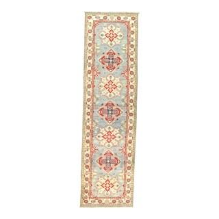 "Pasargad NY Kazak Design Lamb's Wool Rug - 9'8"" x 2'8"" - 9'8"" x 2'8"""
