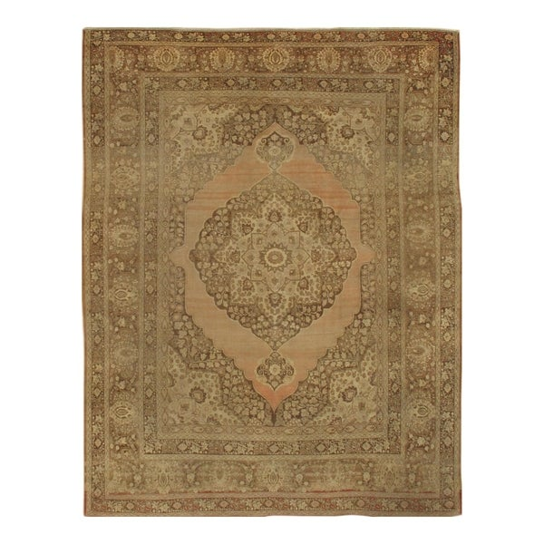 "Pasargad NY Antique Persian Tabriz Wool Pile Rug - 9'3"" X 11'6"" - 9'3"" X 11'6"""