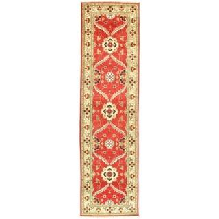 "Pasargad NY Kazak Design Lamb's Wool Rug - 9'7"" x 2'7"" - 9'7"" x 2'7"""