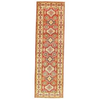 "Pasargad NY Kazak Design Lamb's Wool Rug - 9'5"" x 2'8"" - 9'5"" x 2'8"""
