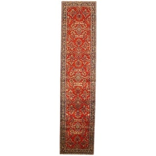 "Pasargad NY Sarouk Design Hand Knotted Rug - 2'7"" X 11'6"" - 2'7"" X 11'6"""