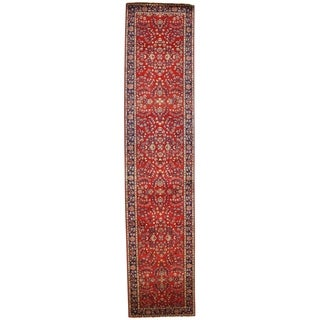 "Pasargad NY Sarouk Design Hand Knotted Rug - 2'7"" X 11'10"" - 2'7"" X 11'10"""