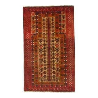 "Pasargad NY Afghan Baluch Wool Rug - 2'8"" X 4'6"" - 2'8"" X 4'6"""