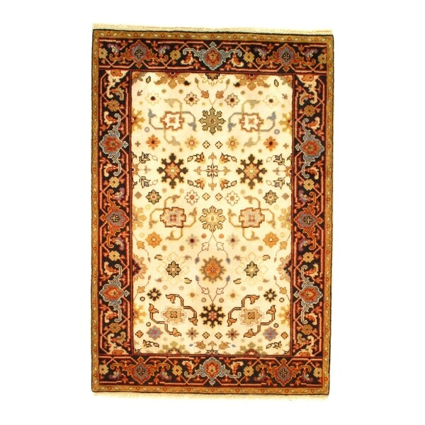 Pasargad NY Mahal Design Hand Knotted Rug - 4' X 6' - 4' X 6'