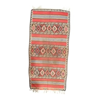 "Pasargad NY Antique Persian Shiraz Kilim Rug - 4'9"" x 9'11"" - 4'9"" x 9'11"""