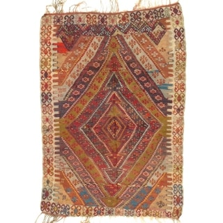 "Pasargad NY Antique Persian Shiraz Kilim Rug - 3'8"" X 5'4"" - 3'8"" X 5'4"""