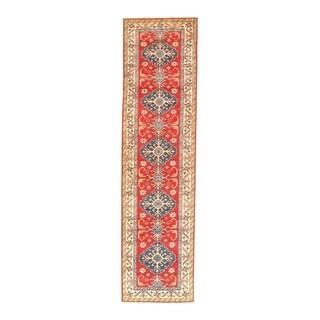 "Pasargad NY Kazak Design Lamb's Wool Rug - 10'6"" x 2'8"" - 10'6"" x 2'8"""