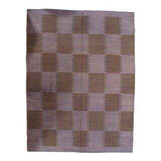 Pasargad NY Scandinavian Design New Zealand Overdyed Wool Rug - 7′ × 10′ - 7′ × 10′
