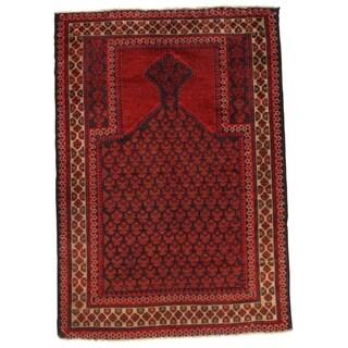 "Pasargad NY Afghan Baluch Wool Rug - 3'1"" X 4'5"" - 3'1"" X 4'5"""