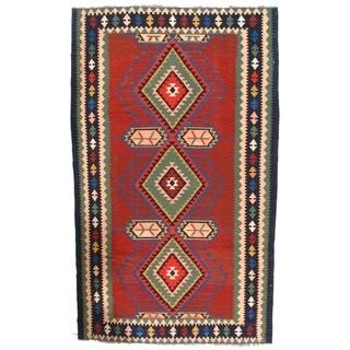 "Pasargad NY Antique Russian Kazak Kilim Lamb's Wool Rug - 6'6"" x 10'10"" - 6'6"" x 10'10"""