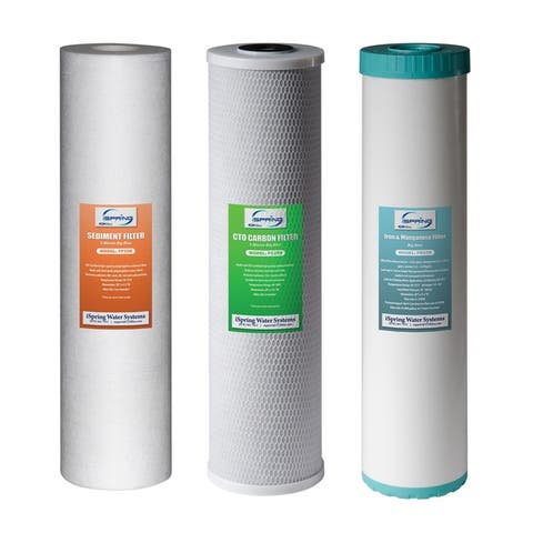 iSpring F3WGB32BM Replacement Filter Pack for 3 Stage 20 Inch Whole House Water Filter, Fits WGB32BM