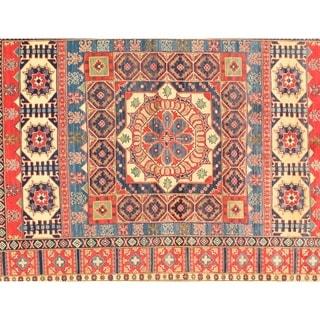"Pasargad NY Kazak Design Lamb's Wool Rug - 9' x 6'6"" - 9' x 6'6"""