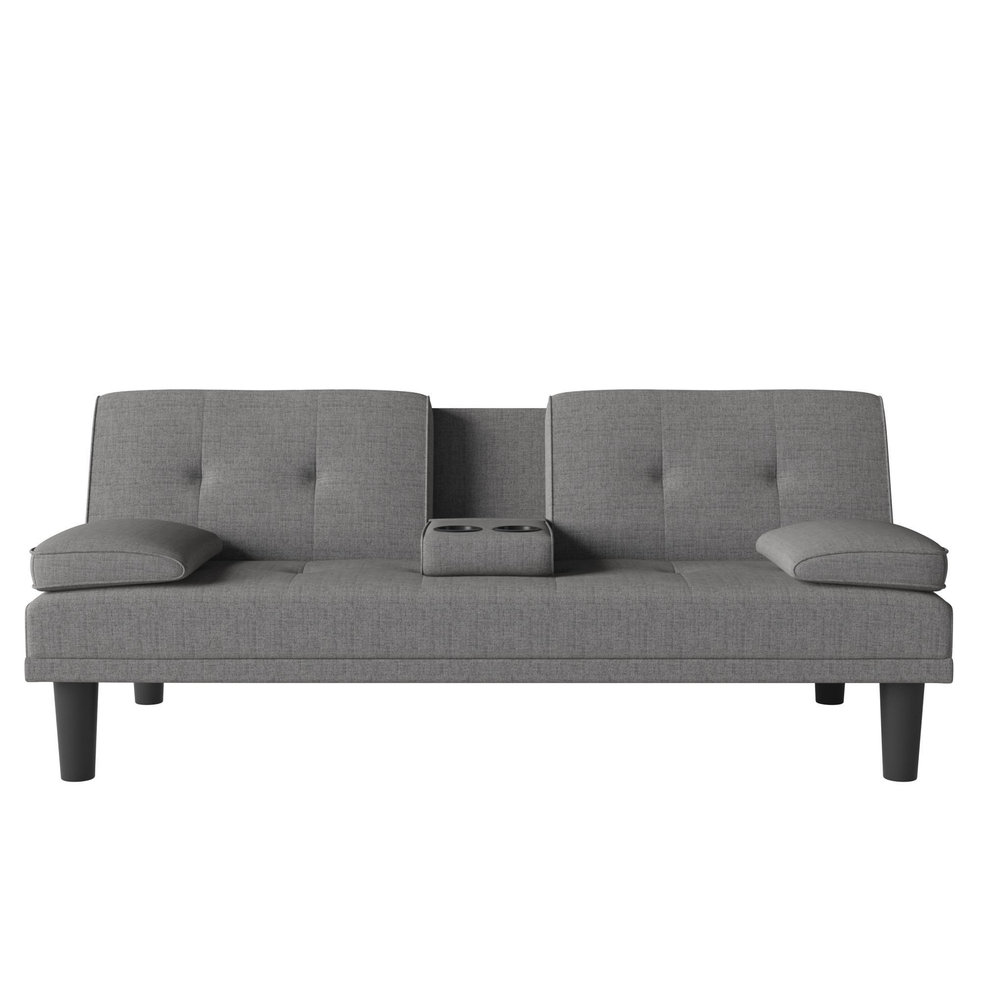 Avenue Greene Medley Cupholder Sofa Sleeper Futon with 2 pillows -  DO11472