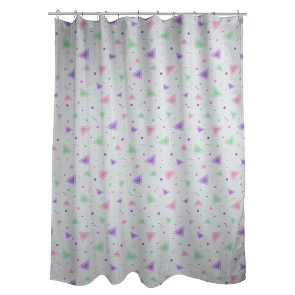 Shop Katelyn Elizabeth Purple Pink 90s Retro Pattern Shower Curtain