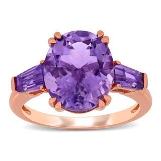 Amethyst, Baguette Rings | Find Great Jewelry Deals Shopping
