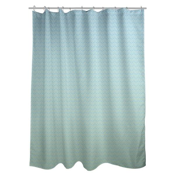 Shop Katelyn Elizabeth Blue Yellow Ombre Art Deco Shower Curtain