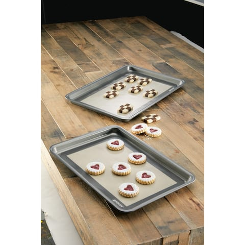 Anolon Advanced Bakeware 2-Piece Baking Mat Set,Clear with Gray Border