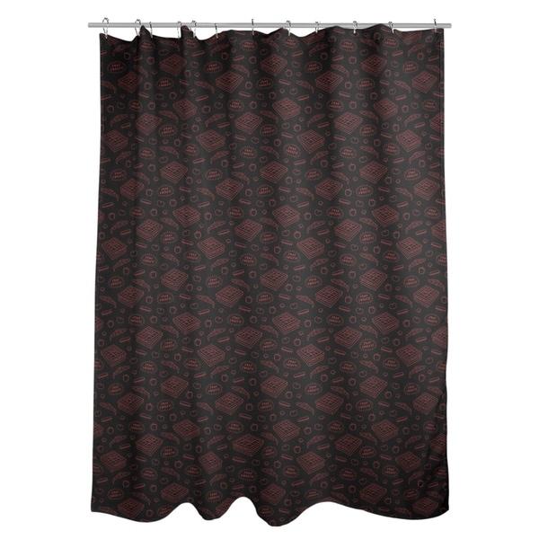 Shop Katelyn Elizabeth Black Red Pizza Pattern Shower Curtain
