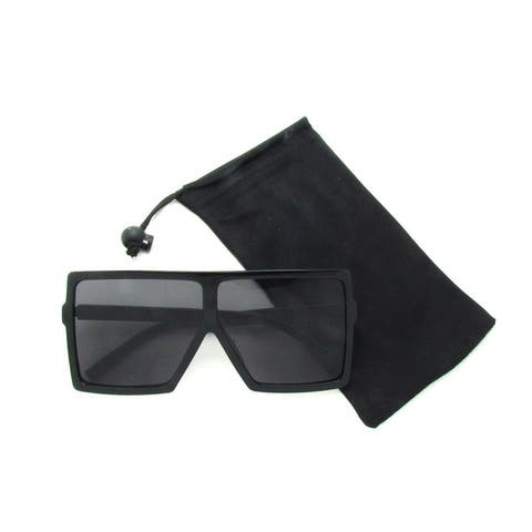Aviator Oversized Square Flat Top Fashion Unisex Sunglasses