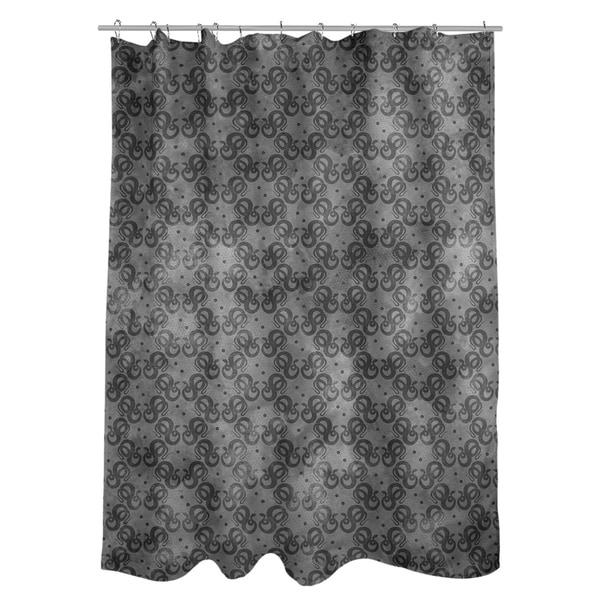 Shop Katelyn Elizabeth Black Snakes Pattern Shower Curtain