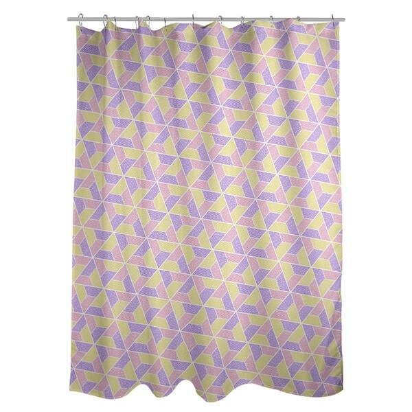 Shop Katelyn Elizabeth Yellow Pink Purple Trapezoids Shower Curtain