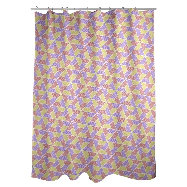 Shop Katelyn Elizabeth Yellow Red Purple Trapezoids Shower Curtain