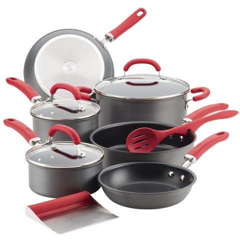 Rachael Ray Create Delicious Hard-Anodized Aluminum 11-pc Cookware Set