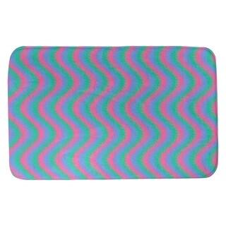 Katelyn Elizabeth Pink Green Blue Wavy Stripe Pattern Bath Mat Multi Overstock 27336943