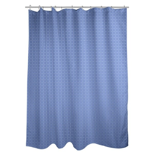 Shop Katelyn Elizabeth Blue With White Doily Pattern Shower Curtain