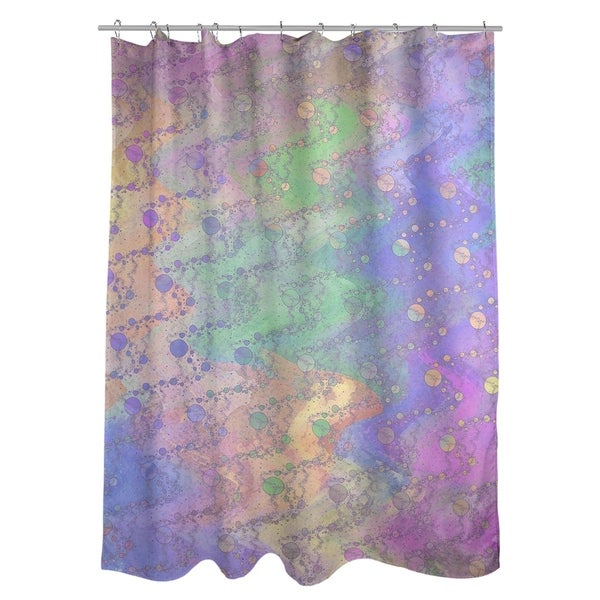 Shop Katelyn Elizabeth Multicolor Planets Stars Shower Curtain