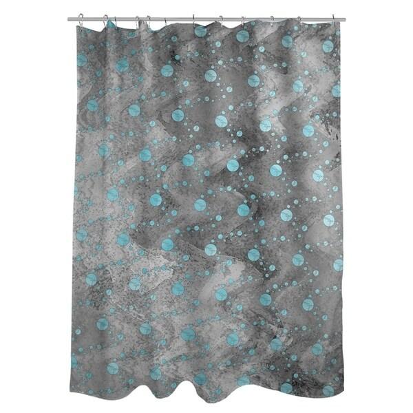 Shop Katelyn Elizabeth Teal Black Planets Stars Shower Curtain