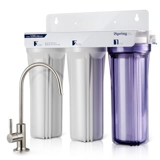iSpring US31 3-Stage Under Sink High Capacity Tankless Drinking Water Filtration System